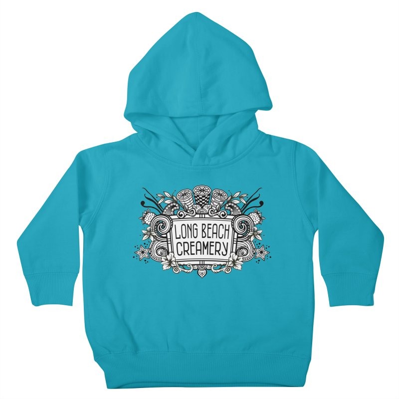 Long Beach Creamery Logo Kids Toddler Pullover Hoody by Scoopie.Life