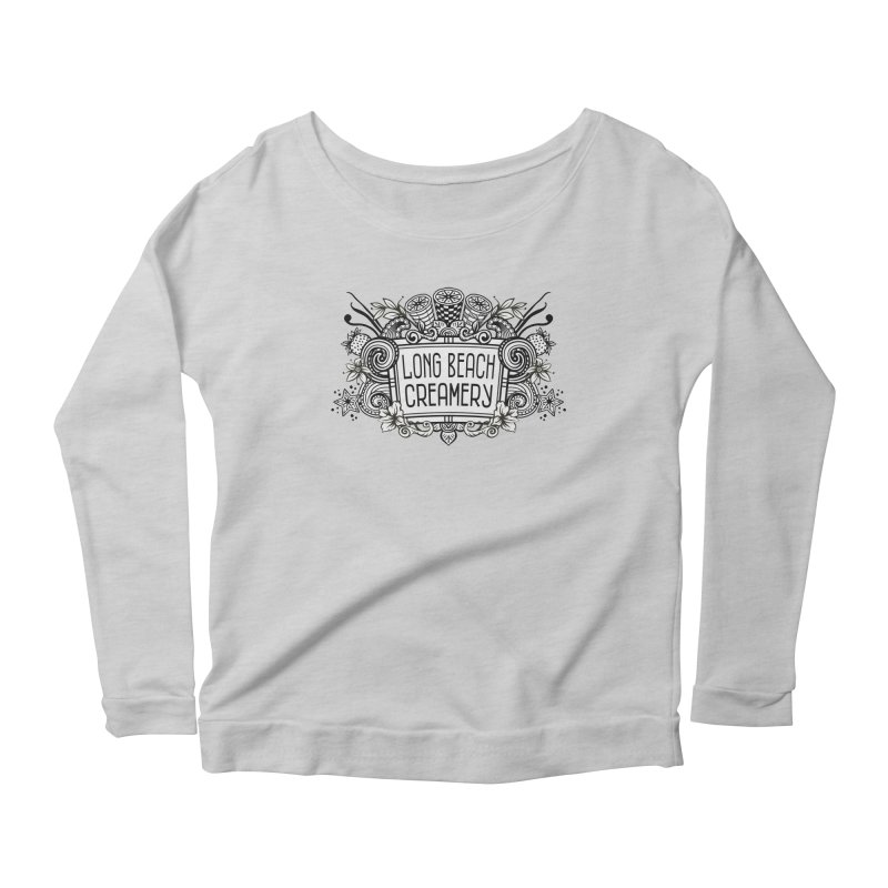 Long Beach Creamery Logo Women's Scoop Neck Longsleeve T-Shirt by Scoopie.Life