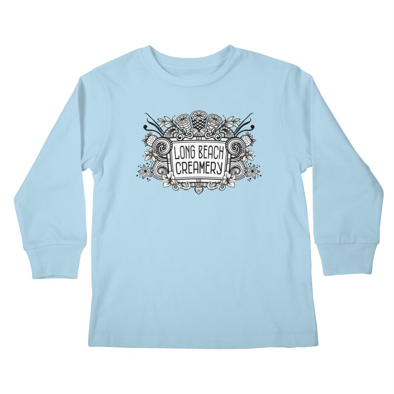 Long Beach Creamery Logo Kids Longsleeve T-Shirt by Scoopie.Life