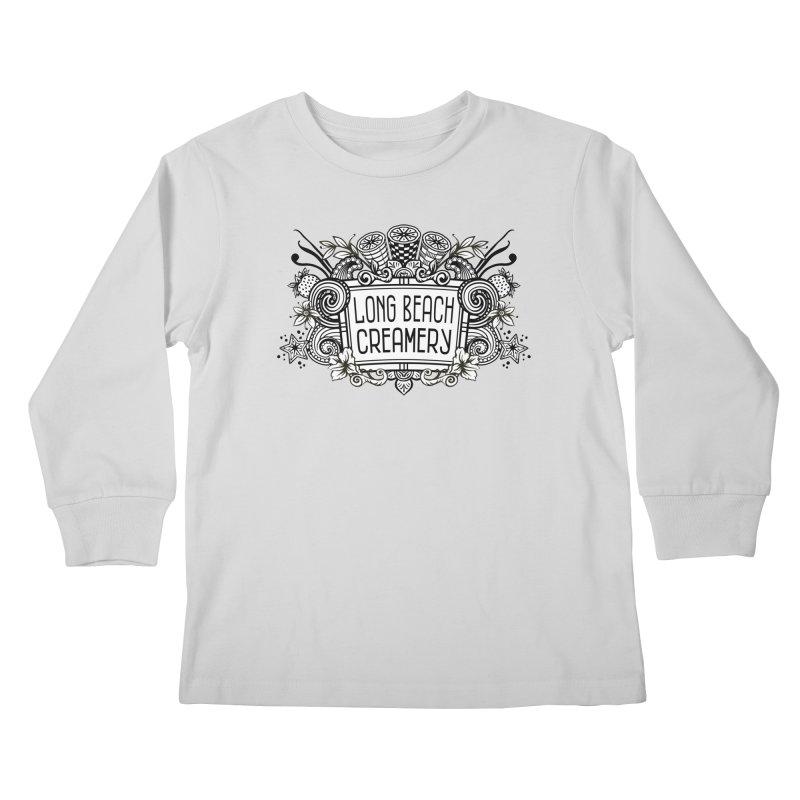 Long Beach Creamery Logo Kids Longsleeve T-Shirt by Scoopie.Life