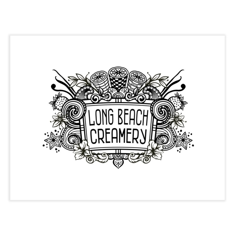 Long Beach Creamery Logo Home Fine Art Print by Scoopie.Life