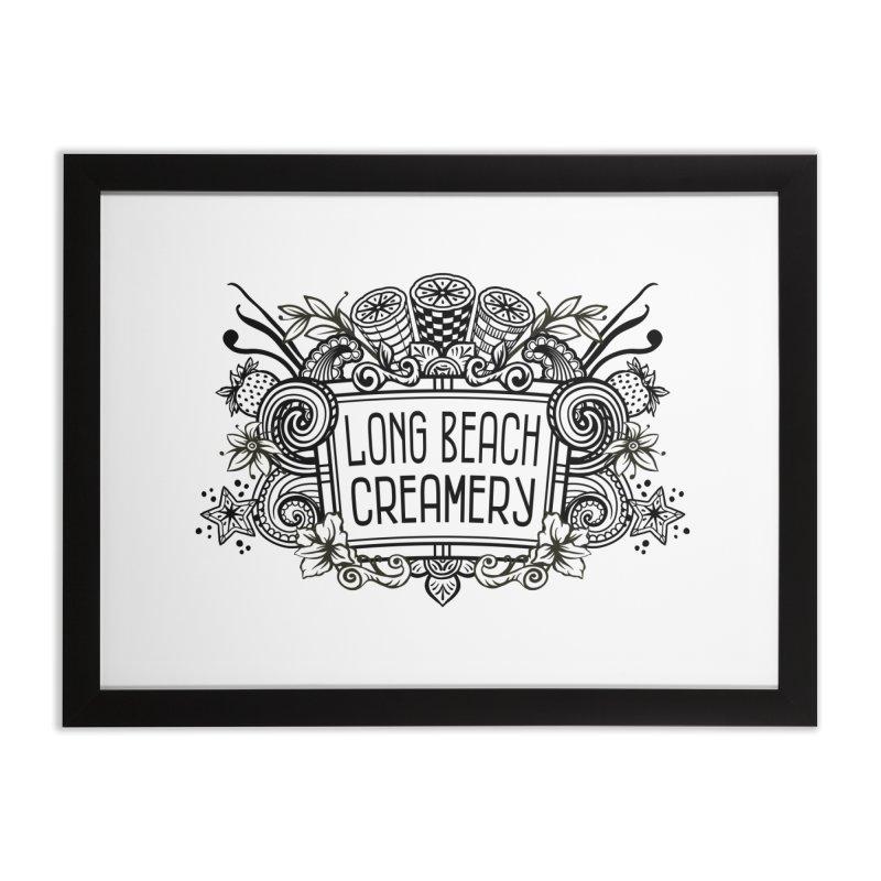 Long Beach Creamery Logo Home Framed Fine Art Print by Scoopie.Life