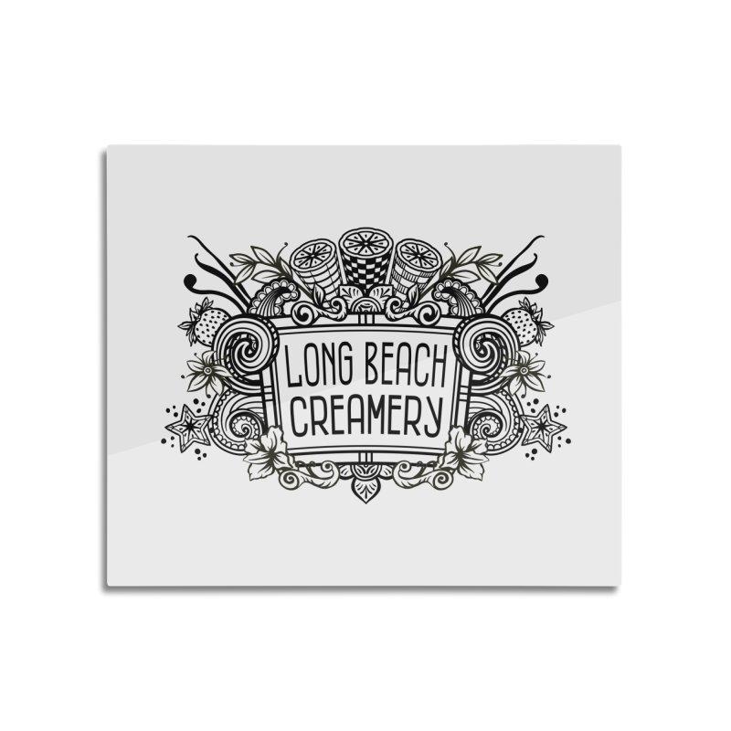 Long Beach Creamery Logo Home Mounted Acrylic Print by Scoopie.Life