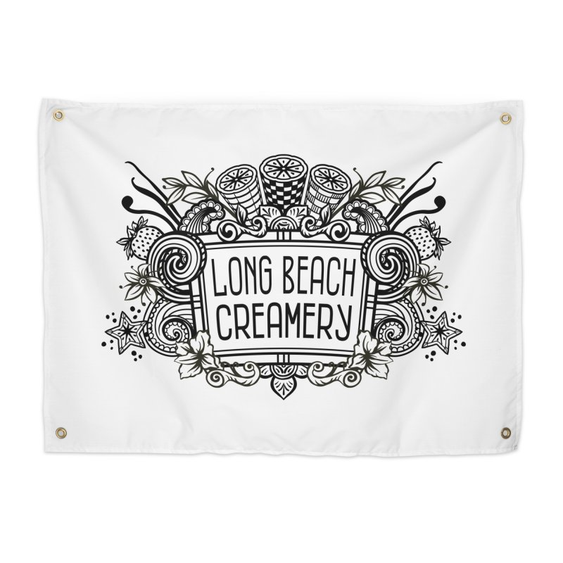 Long Beach Creamery Logo Home Tapestry by Scoopie.Life