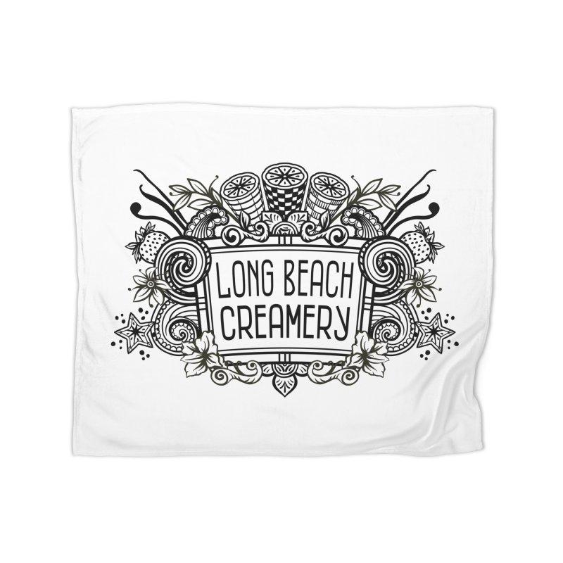Long Beach Creamery Logo Home Fleece Blanket Blanket by Scoopie.Life