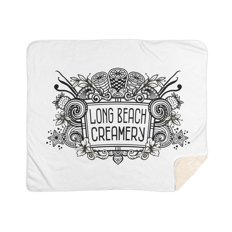 Long Beach Creamery Logo Home Sherpa Blanket Blanket by Scoopie.Life