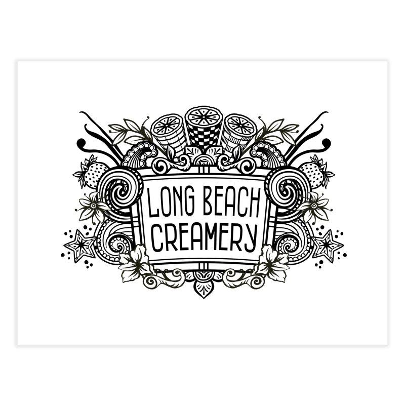 Long Beach Creamery Logo Home Fine Art Print by Scoopie.Life