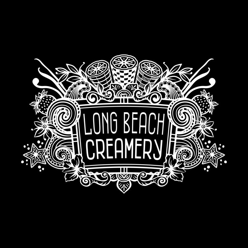 Long Beach Creamery - white Men's T-Shirt by Scoopie.Life