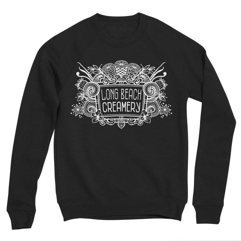 Long Beach Creamery - white Men's Sponge Fleece Sweatshirt by Scoopie.Life