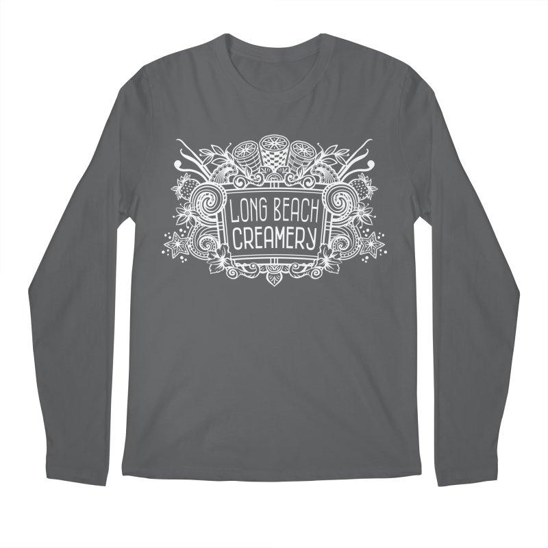 Long Beach Creamery - white Men's Longsleeve T-Shirt by Scoopie.Life