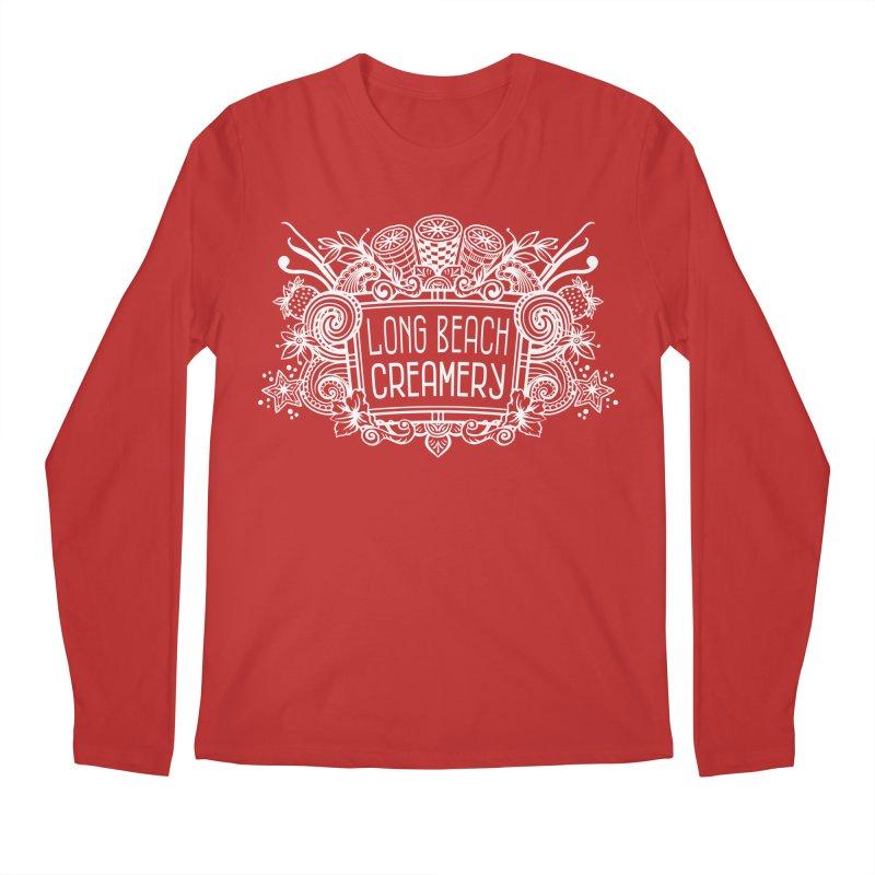 Long Beach Creamery - white Men's Regular Longsleeve T-Shirt by Scoopie.Life