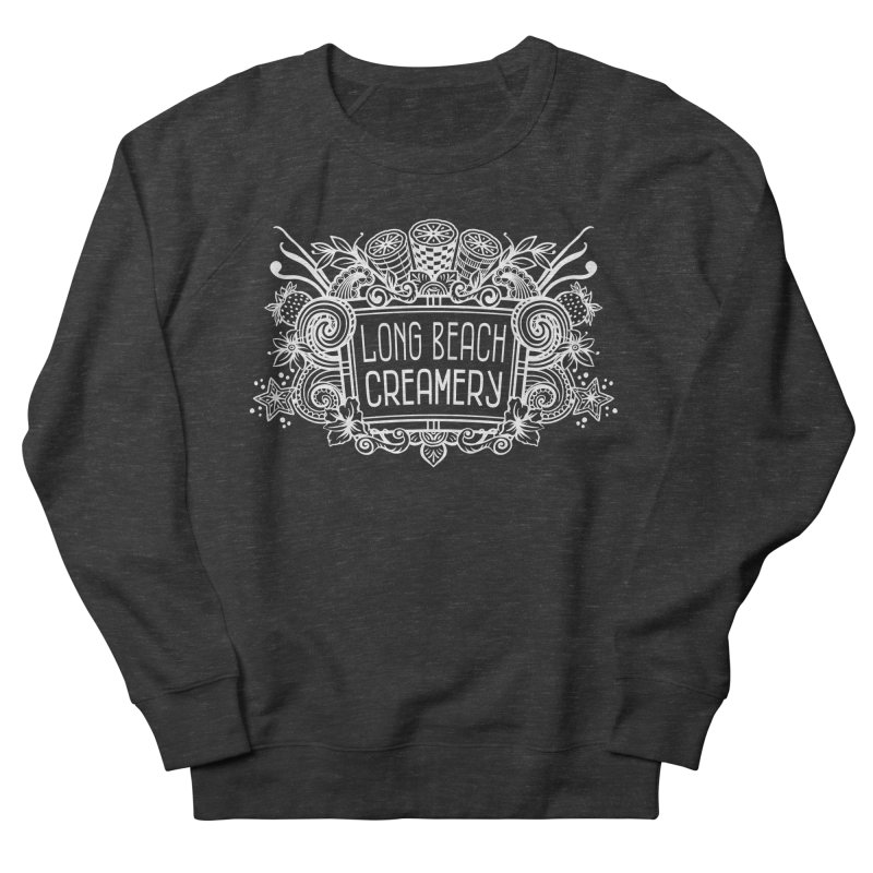 Long Beach Creamery - white Men's French Terry Sweatshirt by Scoopie.Life