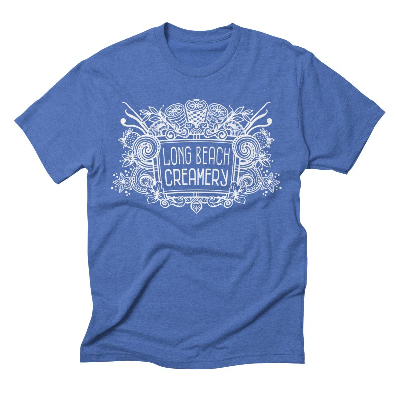 Long Beach Creamery - white Men's T-Shirt by Scoopie.Life