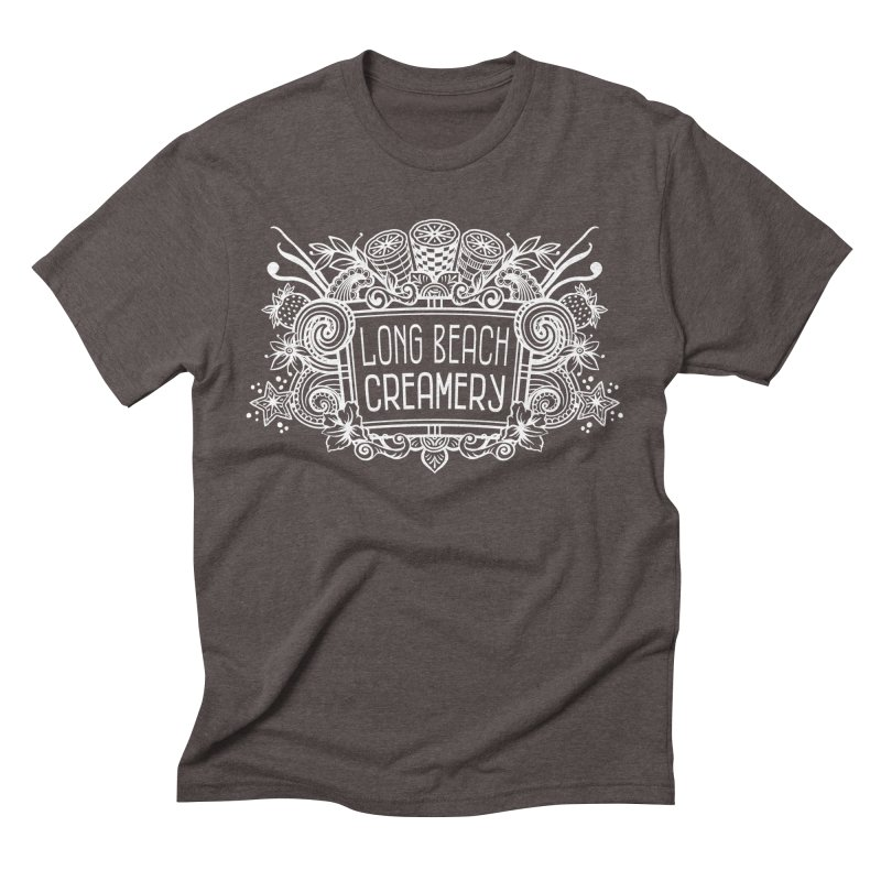 Long Beach Creamery - white Men's Triblend T-Shirt by Scoopie.Life