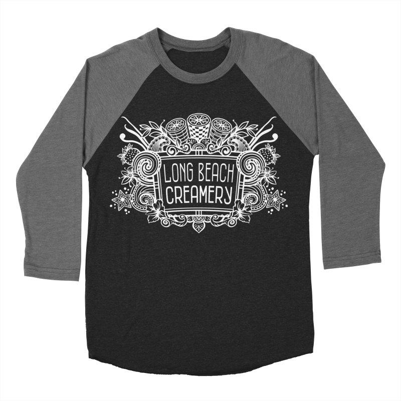 Long Beach Creamery - white Men's Baseball Triblend Longsleeve T-Shirt by Scoopie.Life