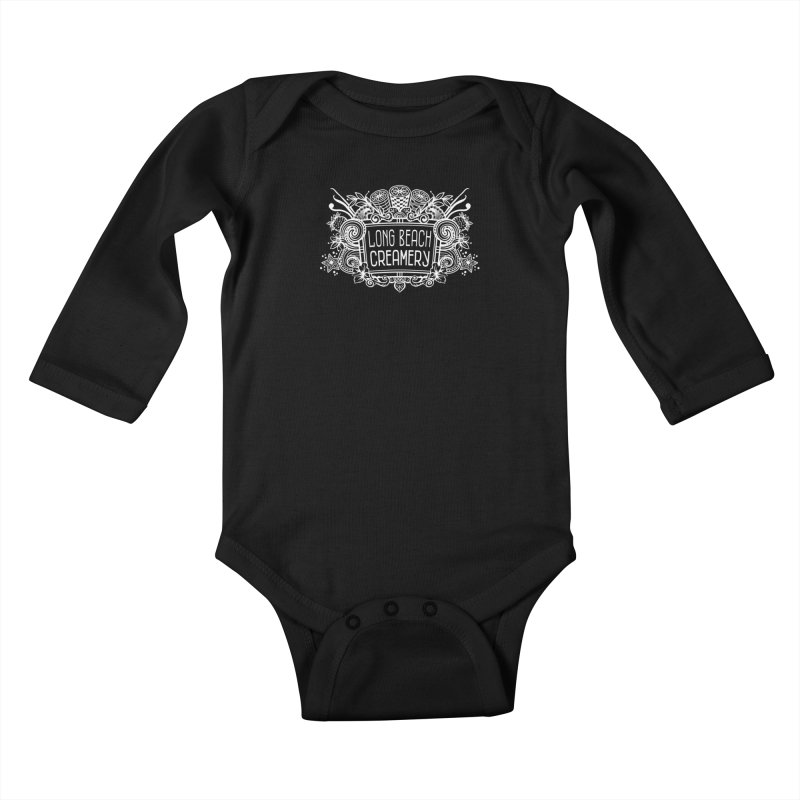 Long Beach Creamery - white Kids Baby Longsleeve Bodysuit by Scoopie.Life