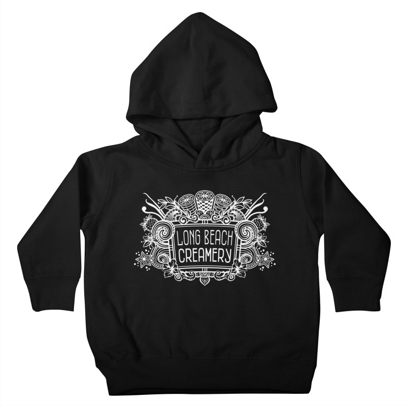 Long Beach Creamery - white Kids Toddler Pullover Hoody by Scoopie.Life