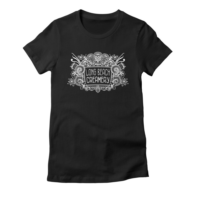 Long Beach Creamery - white Women's Fitted T-Shirt by Scoopie.Life