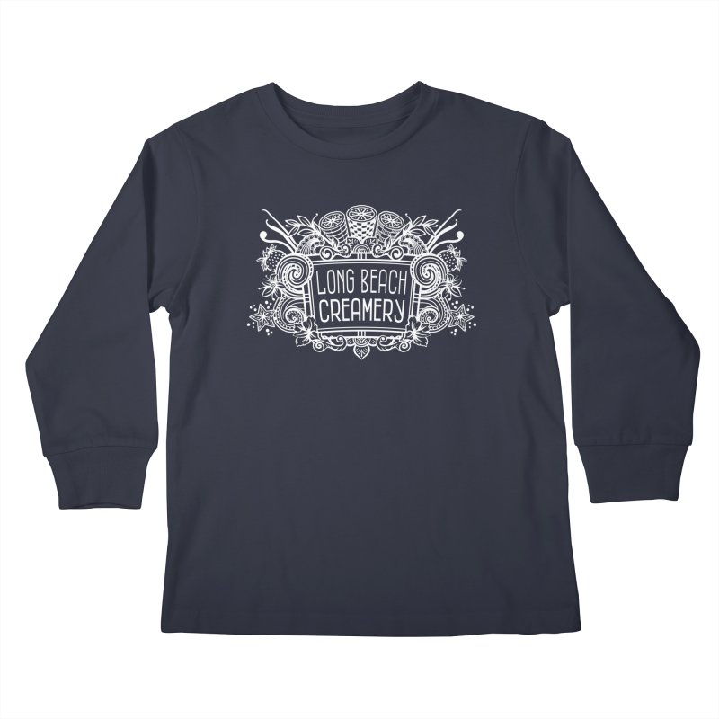 Long Beach Creamery - white Kids Longsleeve T-Shirt by Scoopie.Life