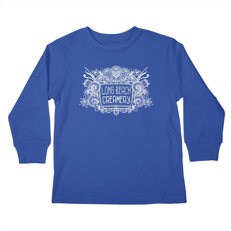 Long Beach Creamery - white Kids Longsleeve T-Shirt by Scoopie.Life