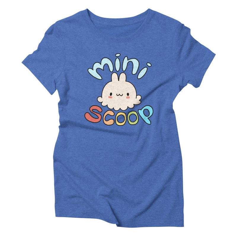 Mini Scoop Women's Triblend T-Shirt by Scoopie.Life