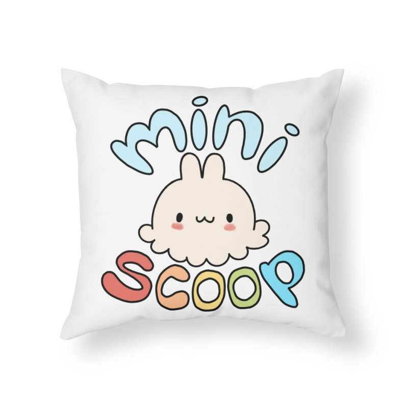 Mini Scoop Home Throw Pillow by Scoopie.Life