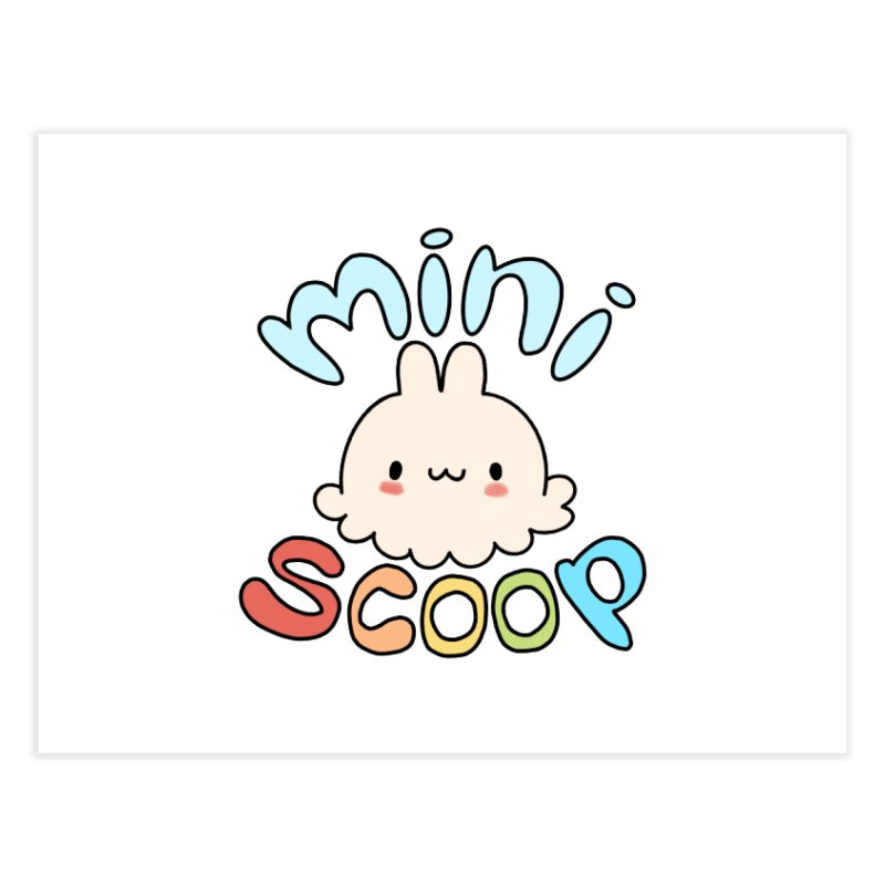 Mini Scoop Home Fine Art Print by Scoopie.Life
