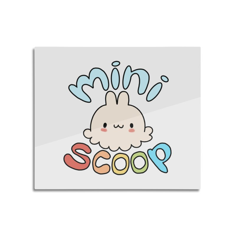 Mini Scoop Home Mounted Aluminum Print by Scoopie.Life