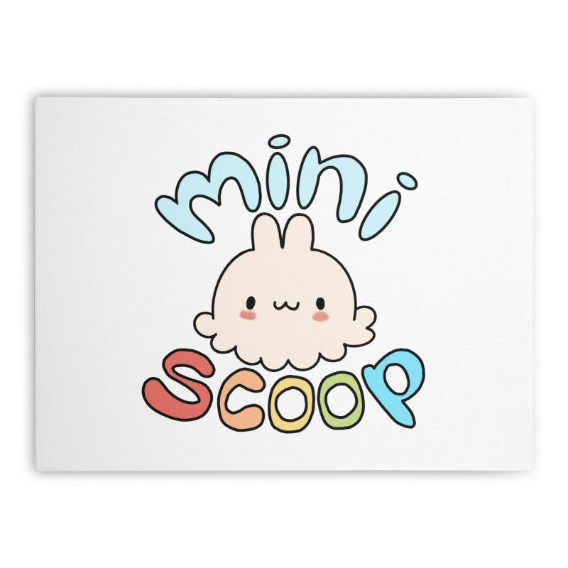 Mini Scoop Home Stretched Canvas by Scoopie.Life