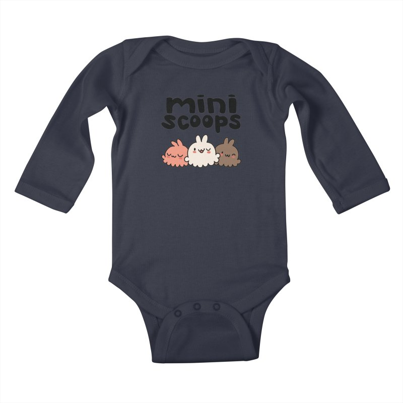Mini Scoops Trio Kids Baby Longsleeve Bodysuit by Scoopie.Life