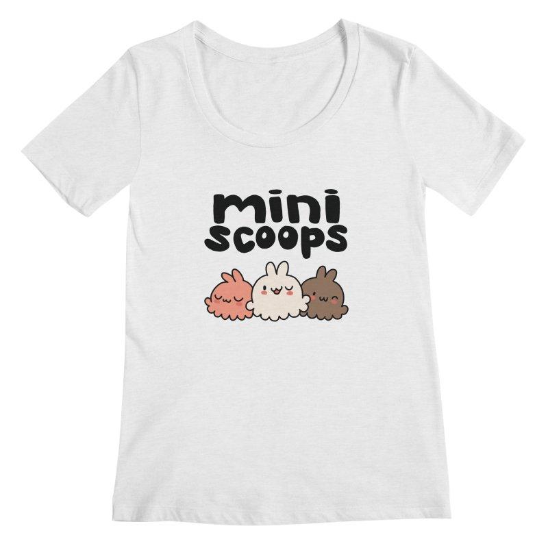 Mini Scoops Trio Women's Regular Scoop Neck by Scoopie.Life