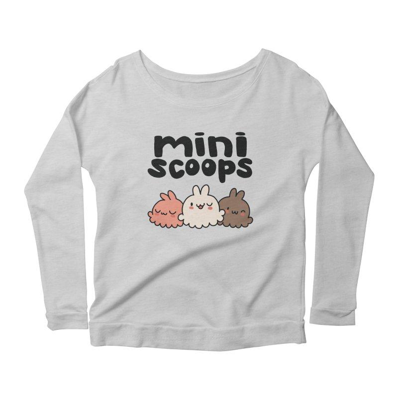 Mini Scoops Trio Women's Scoop Neck Longsleeve T-Shirt by Scoopie.Life