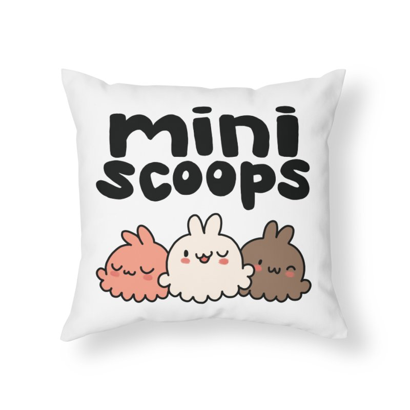 Mini Scoops Trio Home Throw Pillow by Scoopie.Life