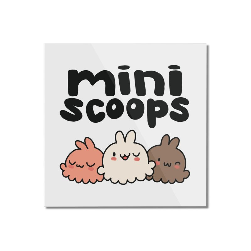 Mini Scoops Trio Home Mounted Acrylic Print by Scoopie.Life