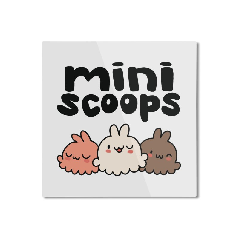 Mini Scoops Trio Home Mounted Aluminum Print by Scoopie.Life