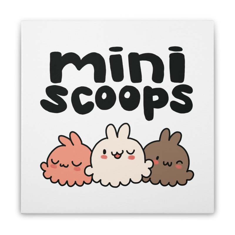 Mini Scoops Trio Home Stretched Canvas by Scoopie.Life
