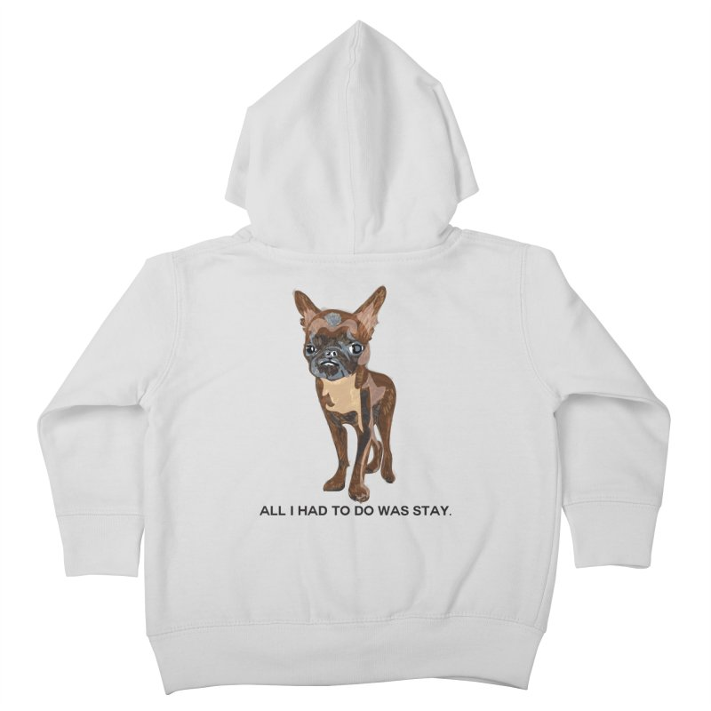 All I Had To Do Was Stay. Kids Toddler Zip-Up Hoody by scottdraft's Artist Shop