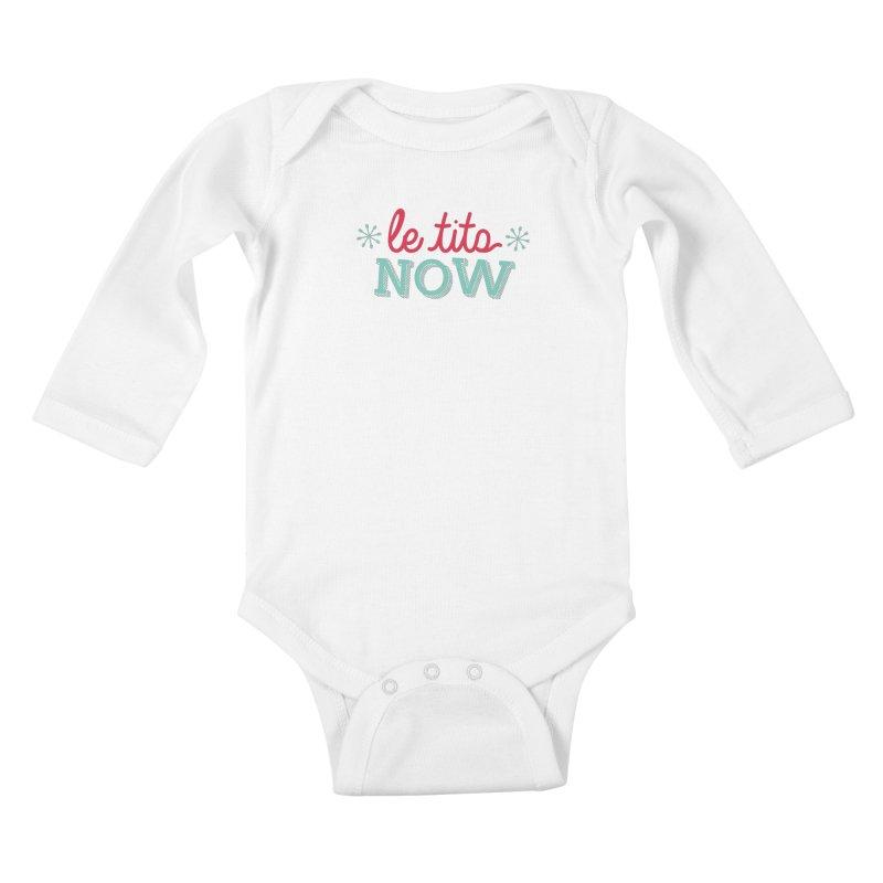 Le Tits Now!  Kids Baby Longsleeve Bodysuit by scottdraft's Artist Shop