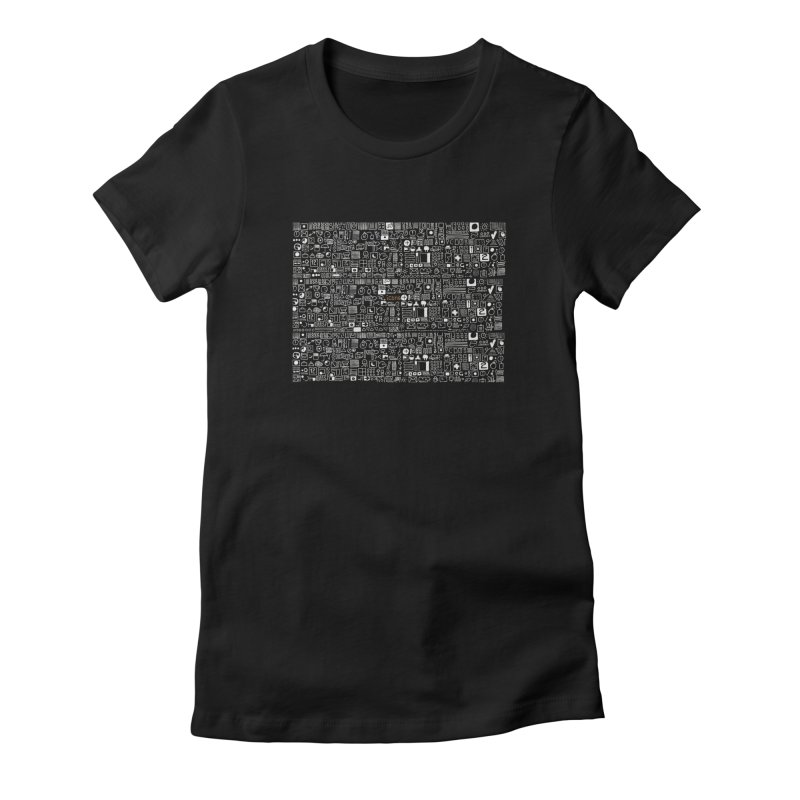 ICONS Women's Fitted T-Shirt by scottdsyoung's Artist Shop