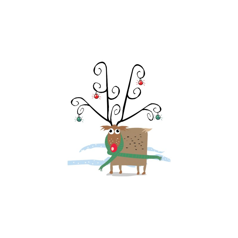 Holiday Reindeer None  by scottdsyoung's Artist Shop