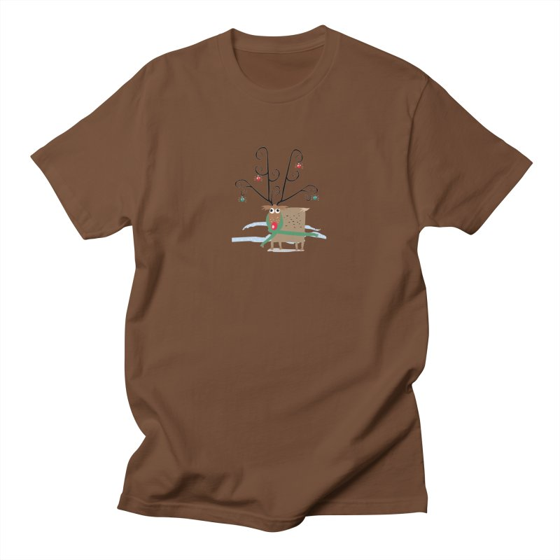 Holiday Reindeer Men's T-Shirt by scottdsyoung's Artist Shop