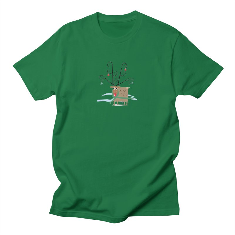 Holiday Reindeer Men's T-shirt by scottdsyoung's Artist Shop