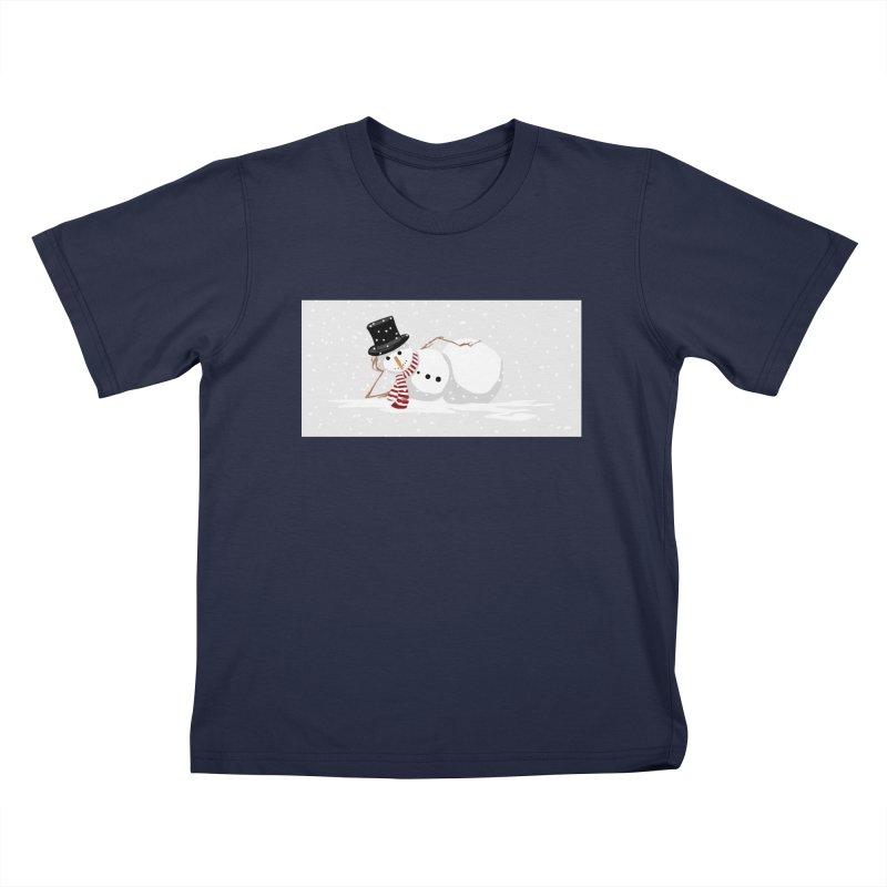 winter snowbound Kids T-Shirt by scottdsyoung's Artist Shop