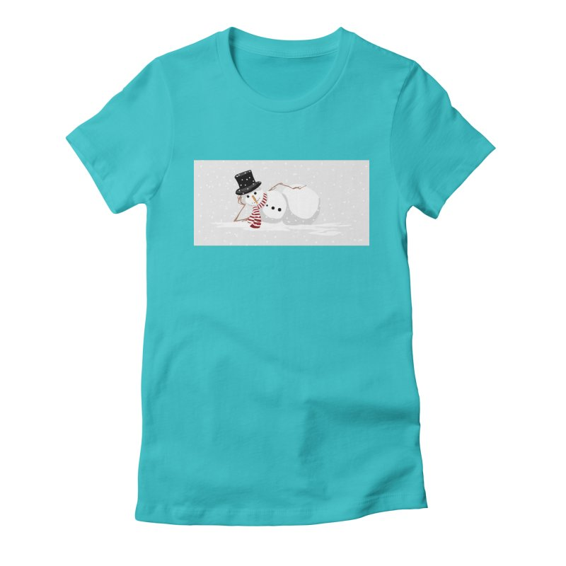 winter snowbound Women's Fitted T-Shirt by scottdsyoung's Artist Shop