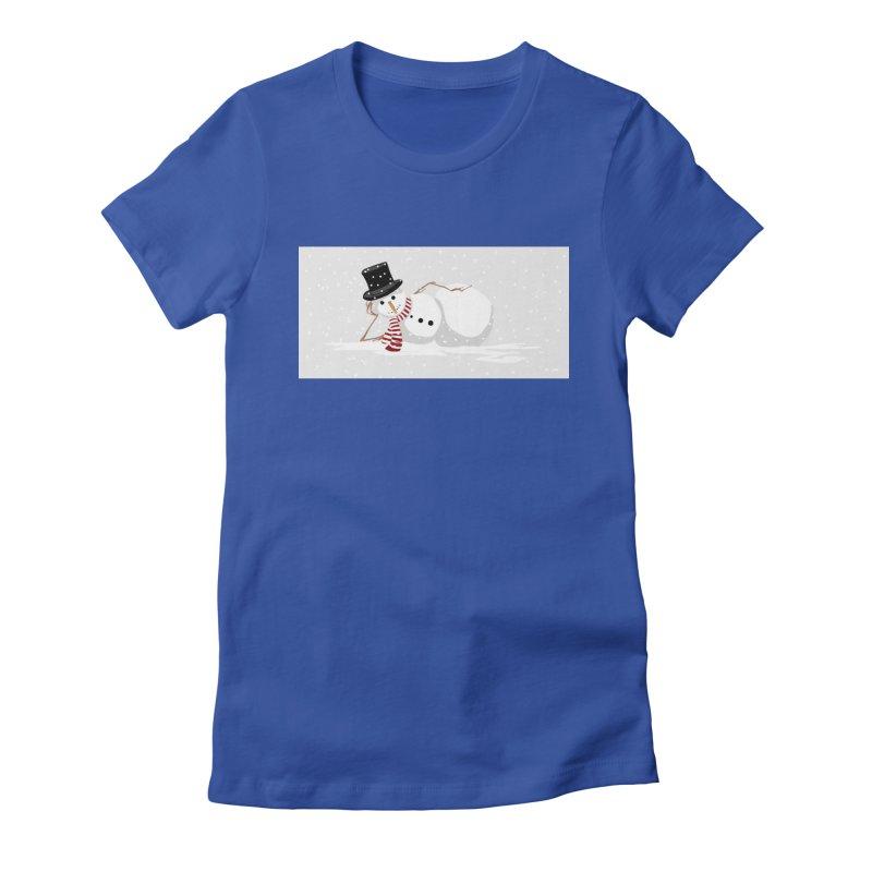 winter snowbound Women's Fitted T-Shirt by scottdsyoung's Artist Shop
