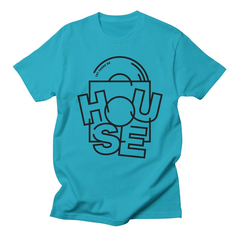 Let there be house in Men's T-shirt Cyan by Scott Millar's Artist Shop