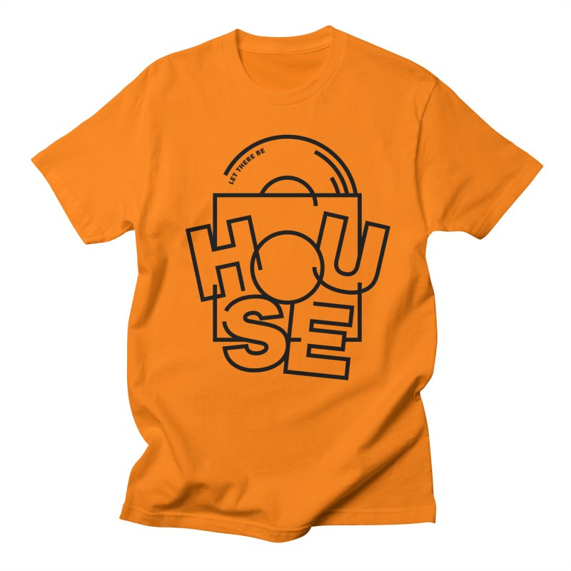 Let there be house in Men's T-shirt Orange by Scott Millar's Artist Shop