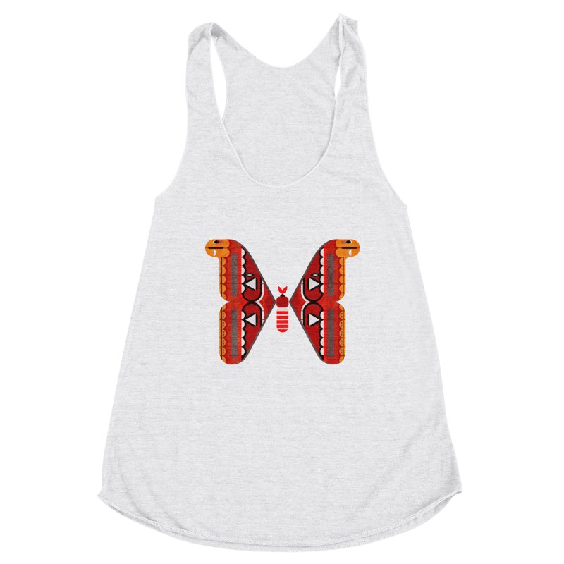 Atlas Moth Women's Racerback Triblend Tank by scottpartridge's Artist Shop