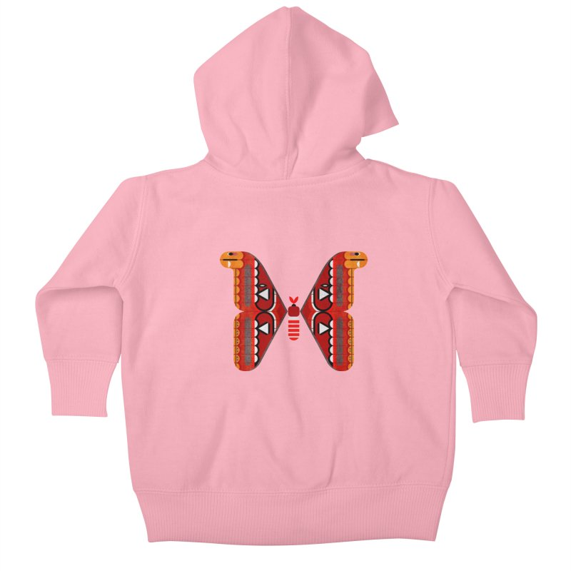 Atlas Moth Kids Baby Zip-Up Hoody by scottpartridge's Artist Shop