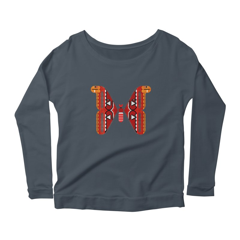 Atlas Moth Women's Scoop Neck Longsleeve T-Shirt by scottpartridge's Artist Shop
